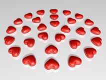 Valentine chocolate 3d art Royalty Free Stock Image
