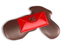 Valentine chocolate 3d art Royalty Free Stock Images