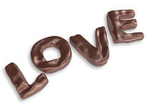 Valentine chocolate 3d art Stock Images