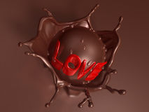 Valentine chocolate 3d art Stock Photography