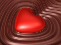 Valentine chocolate 3d art Royalty Free Stock Photography