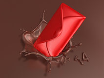 Valentine chocolate 3d art Stock Image