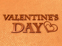 Valentine chocolate 3d art Stock Photos