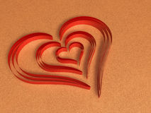 Valentine chocolate 3d art Royalty Free Stock Photos
