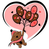 Valentine chocolate bear. Illustration of Valentine chocolate bear royalty free illustration