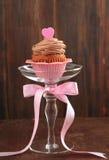 Valentine chocolate cupcake Stock Photo