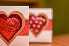 Valentine Chocolate Heart photographie stock libre de droits