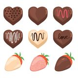Valentine Chocolate Set Images libres de droits