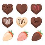 Valentine Chocolate Set illustration stock