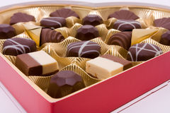 Valentine Chocolates Royalty Free Stock Photography