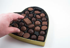 Valentine Chocolates Stock Photo