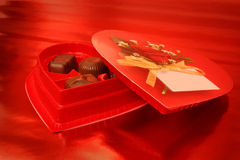 Valentine Chocolates royalty free stock images