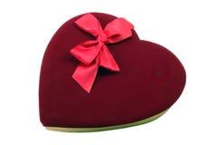 Valentine Chocolates. Velvet topped box of Valentines Chocolates stock photos