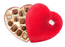 Valentine Chocolates with Clipping Path Stock Photo