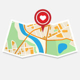 Valentine City Map Imagens de Stock Royalty Free