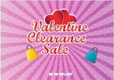 Valentine Clearance Sale illustration Royalty Free Stock Photos