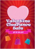Valentine clearrance sale. Happy Valentine's Day illustration, for card, internet content and poster. easy to modify Royalty Free Stock Photography