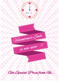 Valentine clearrance sale. Happy Valentine's Day illustration, for card, internet content and poster. easy to modify Royalty Free Stock Images