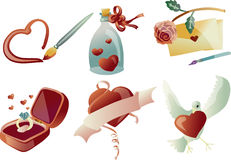 Valentine Clip Art 03 (Vector). A collection of 6 vector illustrations valentine theme clip art Royalty Free Stock Photo