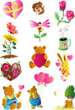 Valentine Clip Art Icon. Vector illustration pf valentine related clip art Icon (12 images) eps vector file included royalty free illustration