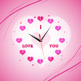 Valentine clock Stock Images