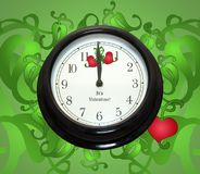 Valentine Clock Royalty Free Stock Photos