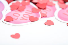 Valentine: Close Up On Valentine Hearts Royalty Free Stock Image