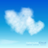 Valentine clouds. Two hearts Stock Image