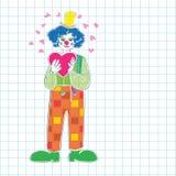 Valentine clown Royalty Free Stock Photography
