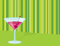Valentine Cocktail Stock Photo