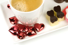 Valentine coffee Stock Photos