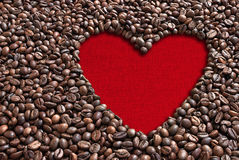 Valentine coffee beans Stock Photos