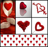 Valentine collage Royalty Free Stock Photography