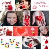 Valentine Collage Royaltyfri Bild