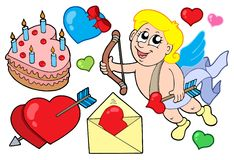 Valentine collection 1. Vector illustration Royalty Free Stock Photo
