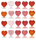 Valentine collection heart. There are hearts with pattern Royalty Free Stock Photos