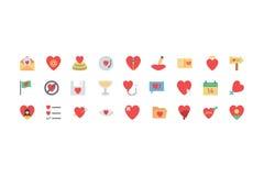Valentine Colored Icons 4 Arkivbilder