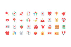 Valentine Colored Icons 2 Royaltyfria Foton