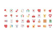 Valentine Colored Icons 2 Photos libres de droits