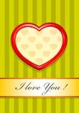 Valentine comme coeur Illustration Libre de Droits