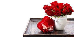 Valentine composition Stock Images