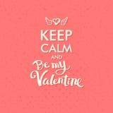 Valentine Concept auf abstraktem rosa Hintergrund Stockbilder