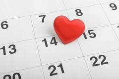 Valentine Concept, cuore rosso Fotografie Stock