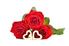 Valentine concept, Red Roses Stock Photos