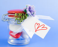 Valentine Confetti Stock Photos
