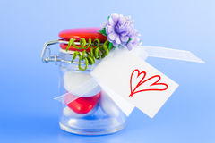 Valentine Confetti Royalty Free Stock Photography