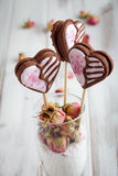 Valentine cookie pops Stock Images