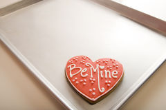 Valentine Cookie on Tray Stock Photography
