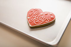 Valentine Cookie on Tray Royalty Free Stock Image