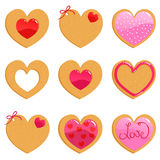 Valentine cookies vector illustration